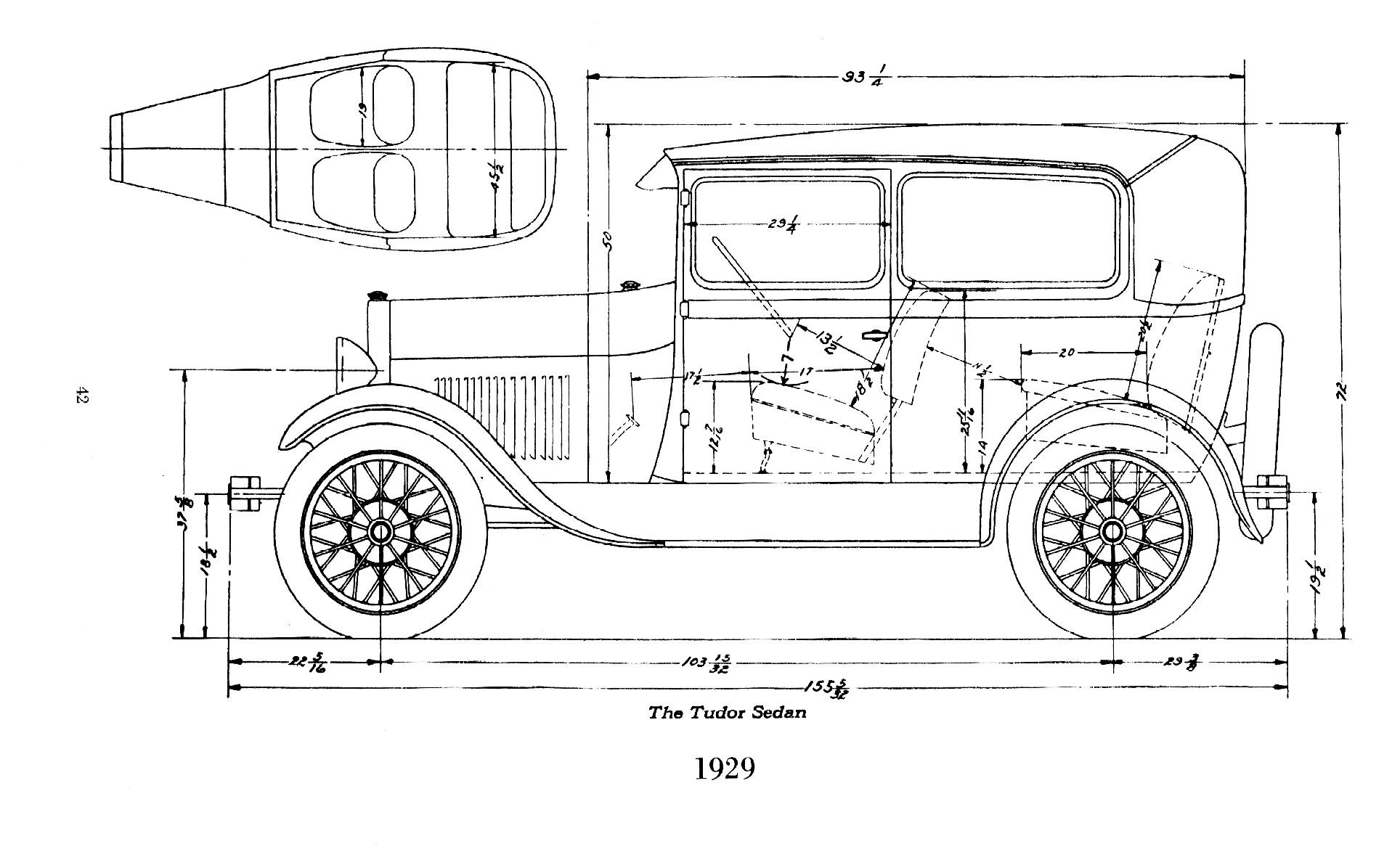 1930 Ford Frame Dimensions